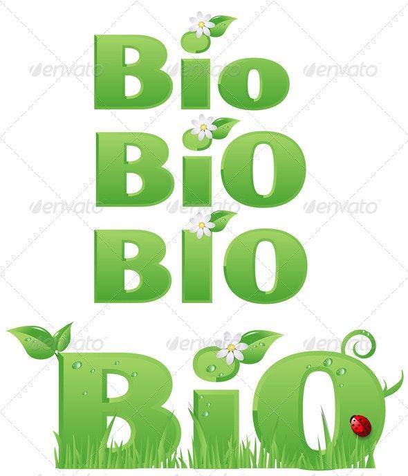 Four Bio Signs - Decorative Symbols Decorative