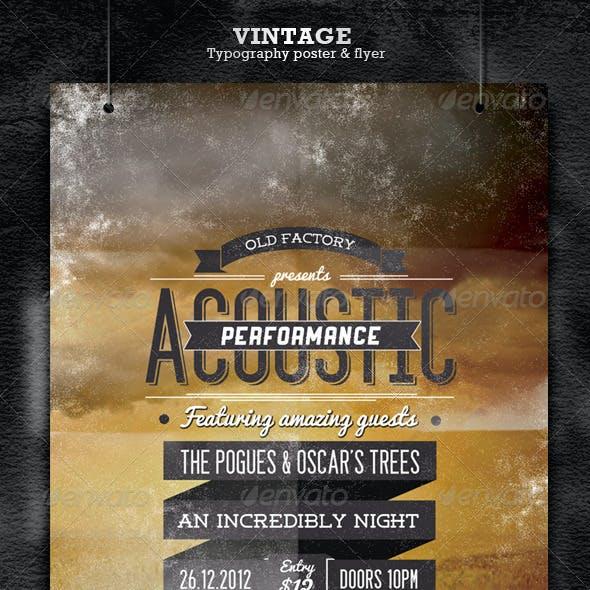 Vintage Typography Poster/Flyer