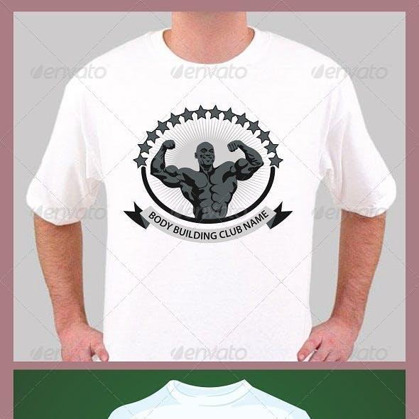 Body Building t-shirt design template