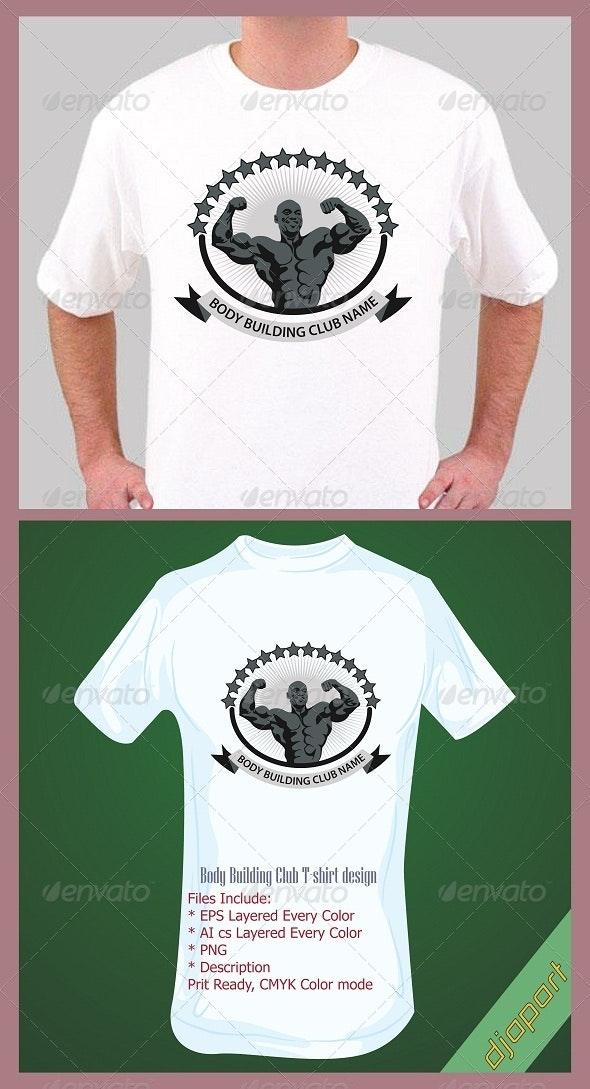 Body Building t-shirt design template - Sports & Teams T-Shirts
