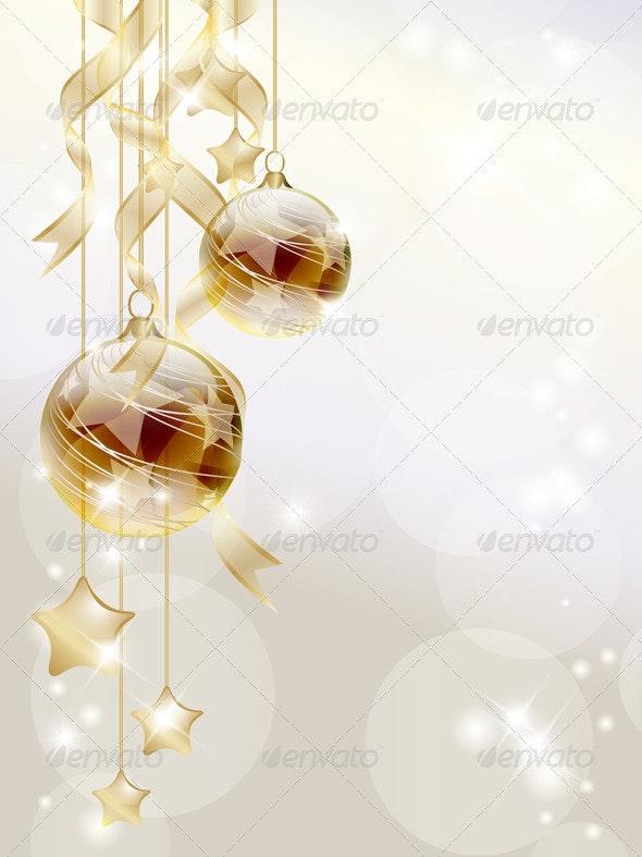 Golden Baubles - Christmas Seasons/Holidays