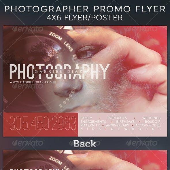 Photographer Promotional Flyer Template