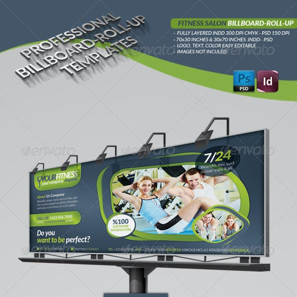 Fitness Salon Bilboard Roll-Up