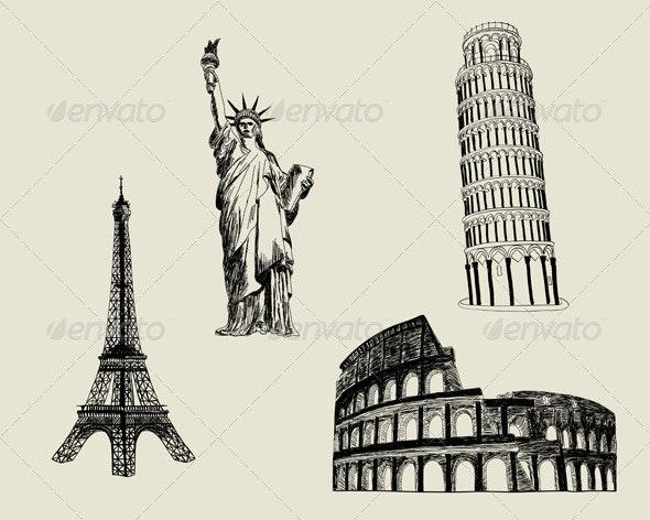 Sketch Landmark Set - Buildings Objects