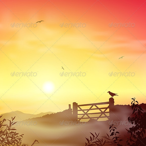 Misty Morning Landscape - Landscapes Nature