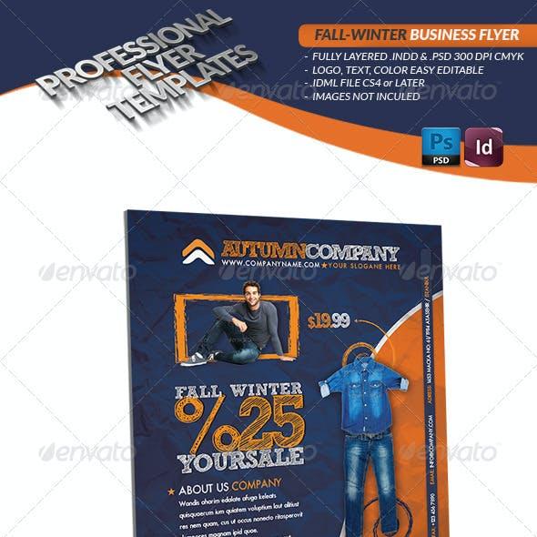 Fall Winter Business Flyer