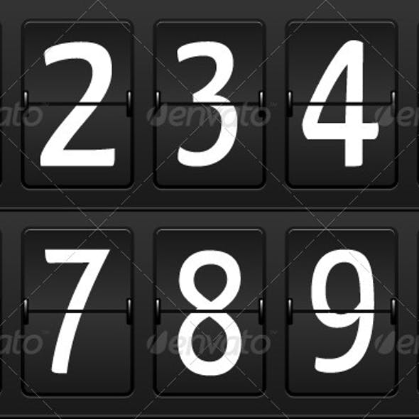 Numbers for Airport Time table
