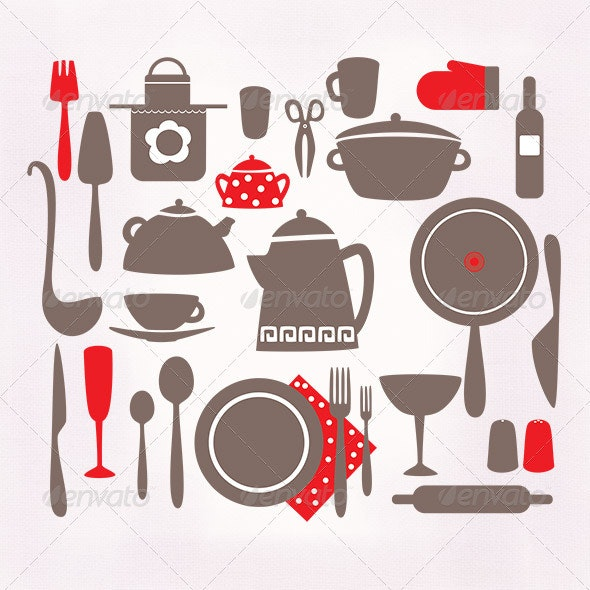 Kitchen Accessories - Food Objects