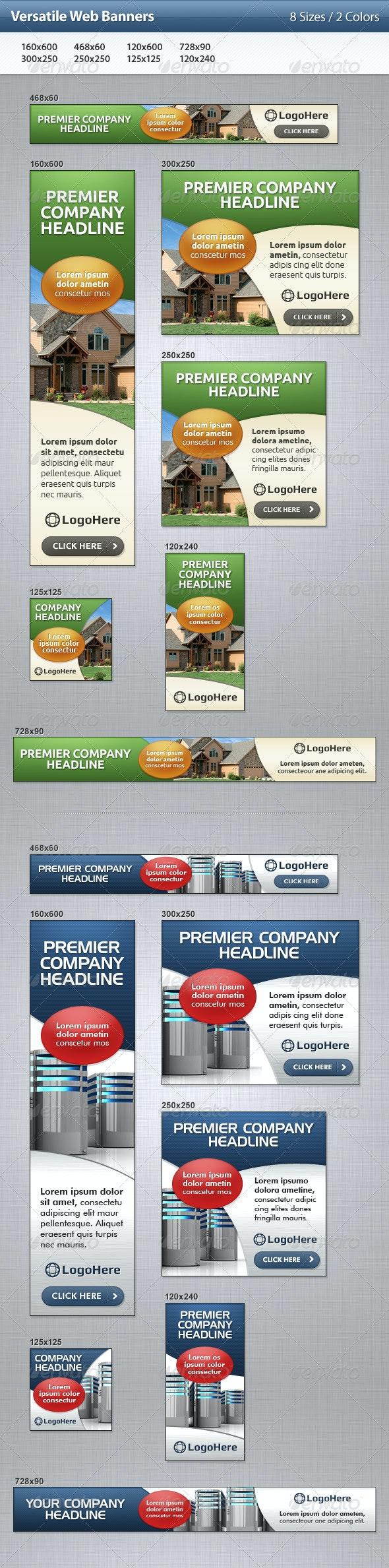 Versatile Web Banners - Banners & Ads Web Elements