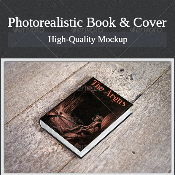 Photorealistic Book and Cover