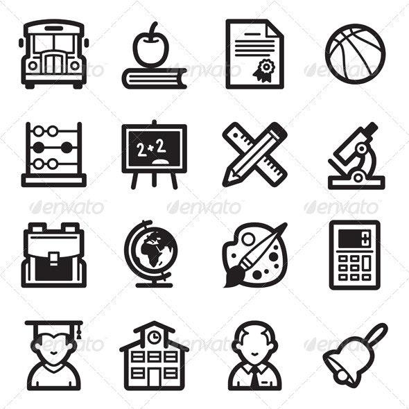 Education Icons Set 1 - Simpla Series - Web Icons
