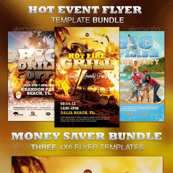 Hot Event Flyer Template Bundle