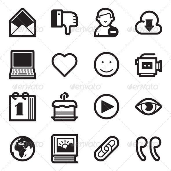 Social Media Icons Set 2 - Simpla Series