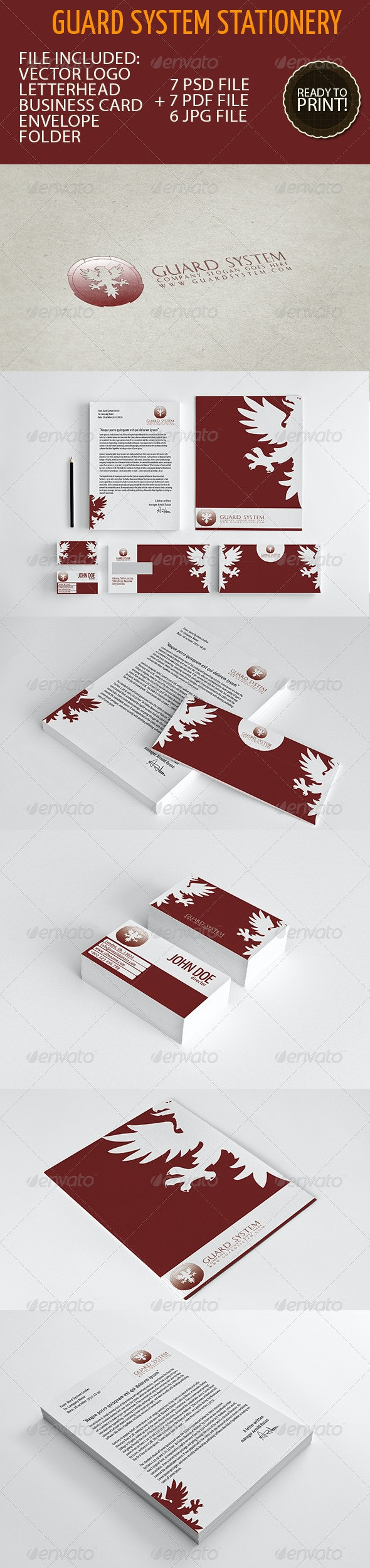 Business Stationery 01 - Guard System - Stationery Print Templates