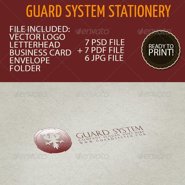 Business Stationery 01 - Guard System