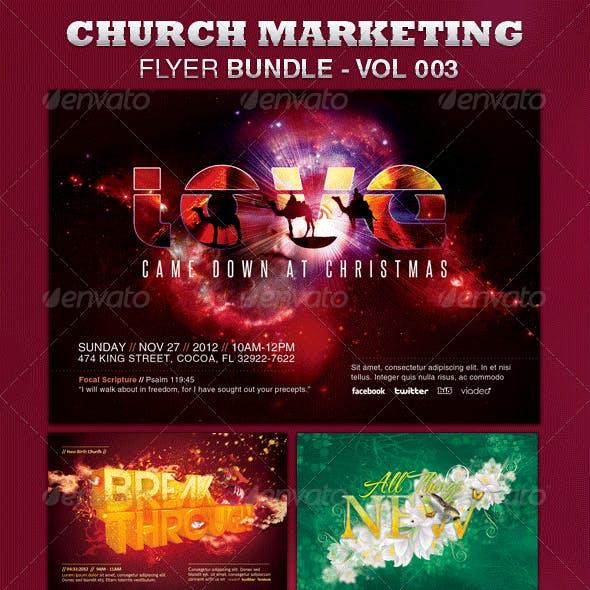 Church Marketing Flyer Bundle Vol-003