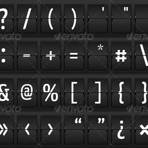 Glyphs on a Mechanical Terminal Table