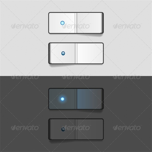 On Off Switch - Web Elements Vectors