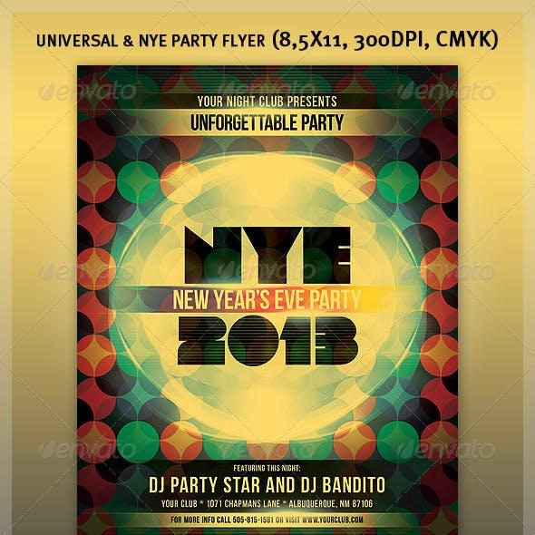 Universal & NYE Party Flyer