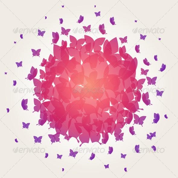 Butterfly Background - Backgrounds Decorative