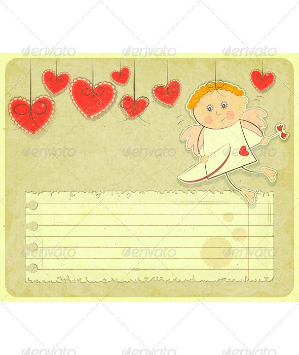 Retro Valentines Day Card - Valentines Seasons/Holidays