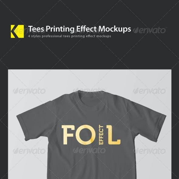 Tees Printing Effect Mockup