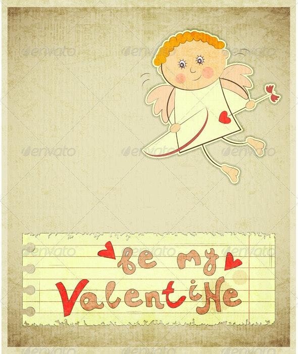Retro Valentines Day Card - Valentines Seasons/Holidays