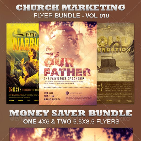 Church Marketing Flyer Bundle-Vol 010