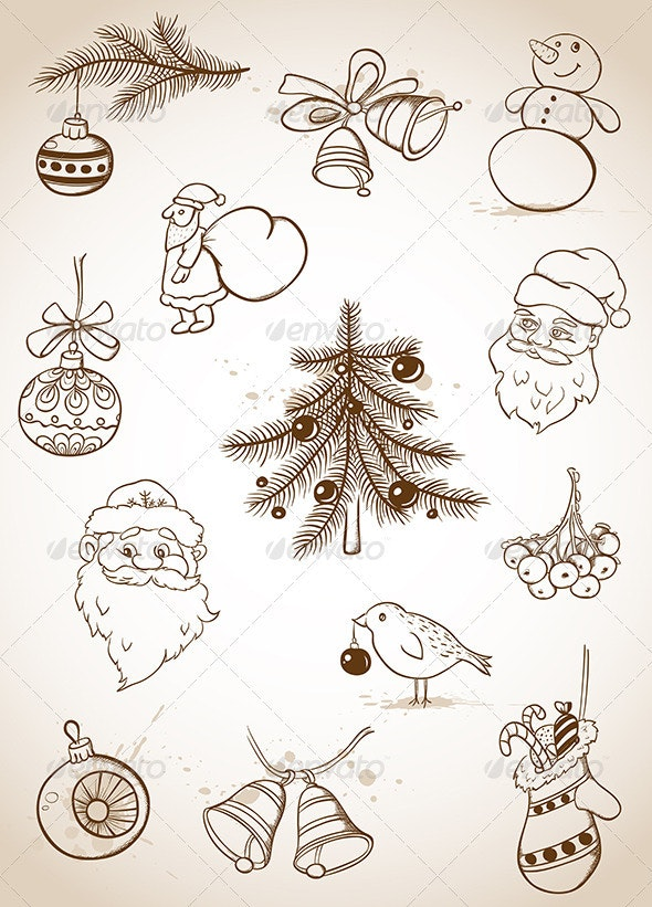 Doodle Christmas Set - Christmas Seasons/Holidays