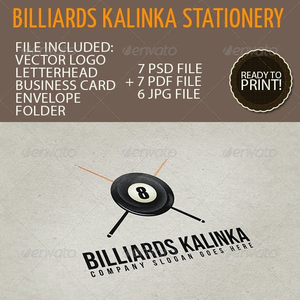 Business Stationery 02 - Billiards Kalinka