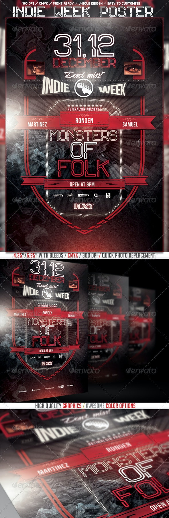 Indie Week Poster/Flyer Template - Events Flyers