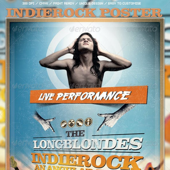 Indierock Poster/Flyer Template