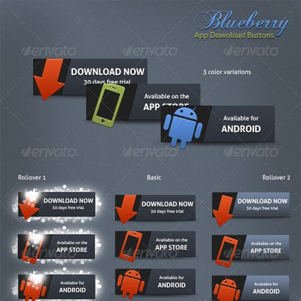 Blueberry App Download Buttons