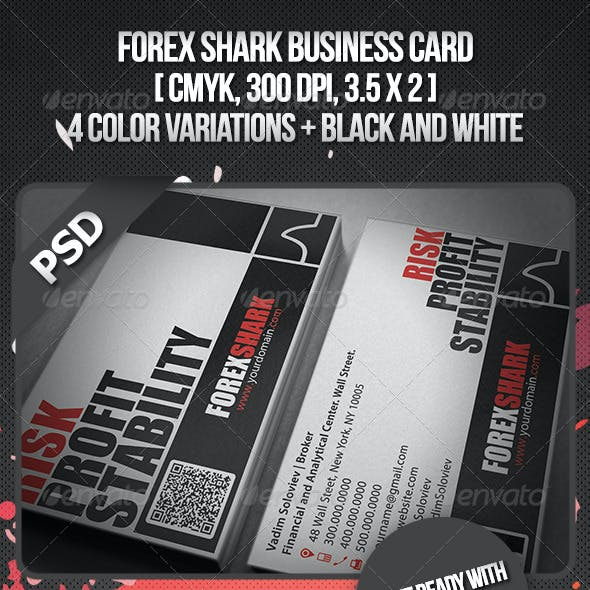 Forex Shark Business Card