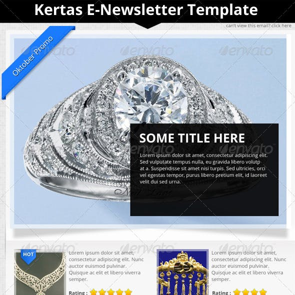 Kertas E-Newsletter Template