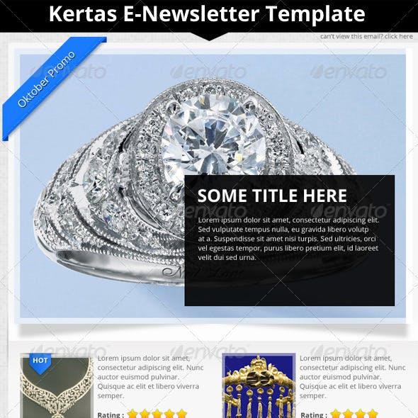 Kertas E-Newsletter Template