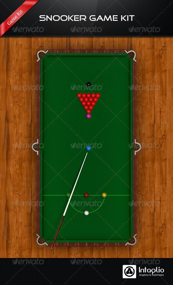 Snooker / Pool Game Kit - Game Kits Game Assets
