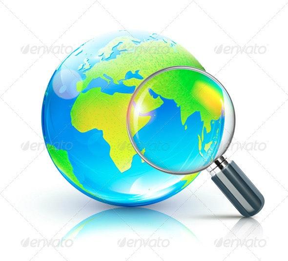 Global Search Concept - Decorative Symbols Decorative