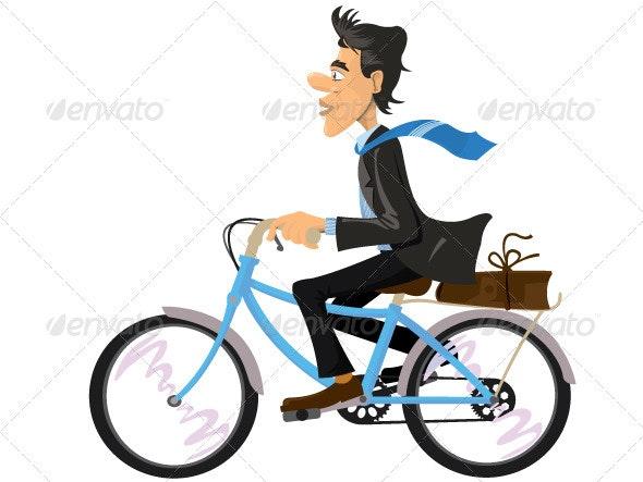 Bike to Work - People Characters