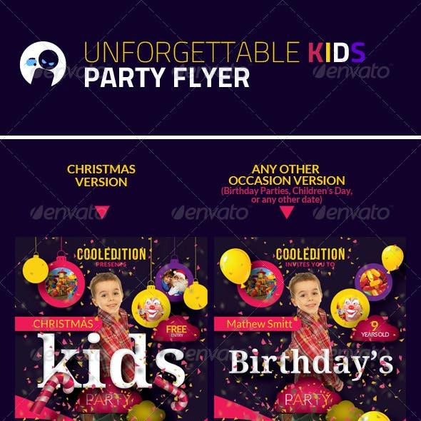Unforgettable Kids Party Flyer