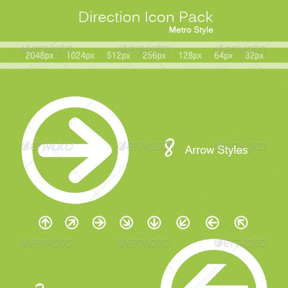 Direction Icon Pack (Metro Style)