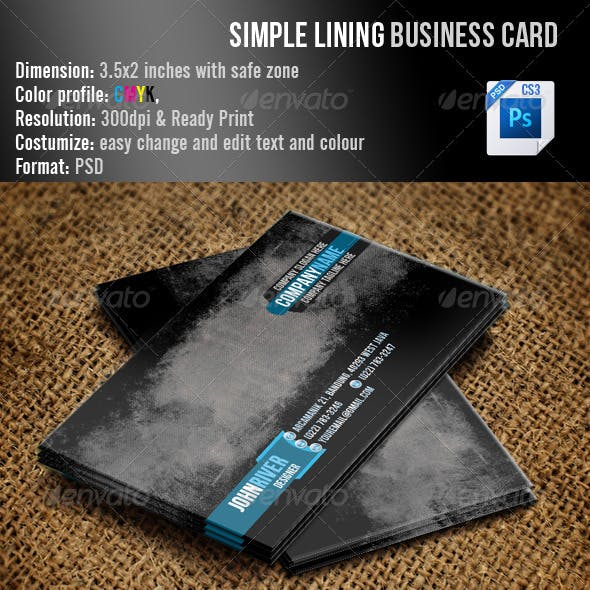Simple Lining Business Card