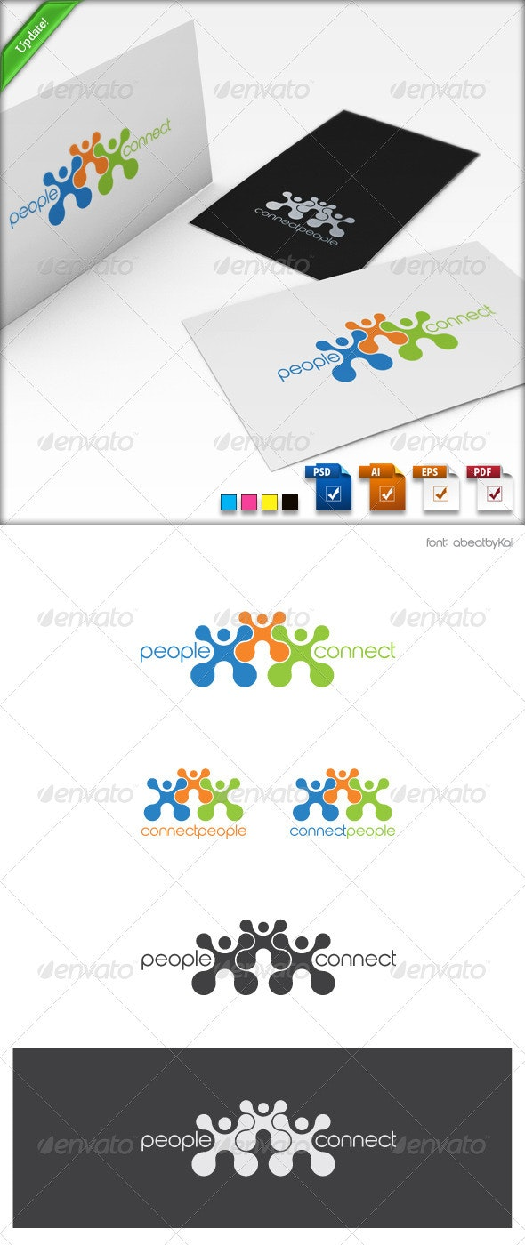 Connect People Logo Template - Humans Logo Templates