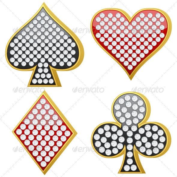 Jewelry Playing Card Symbol - Decorative Symbols Decorative