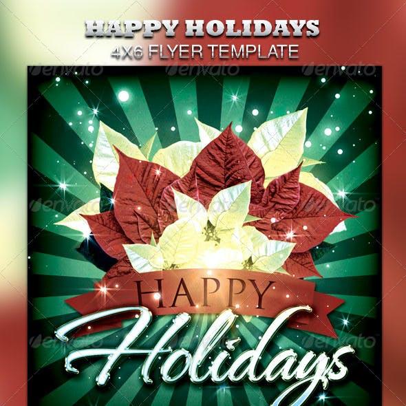 Happy Holidays Flyer