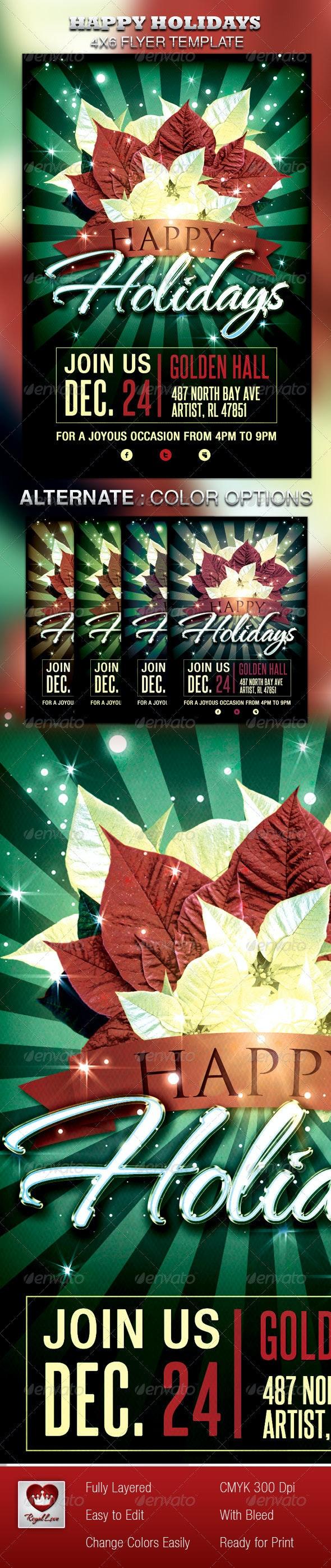 Happy Holidays Flyer - Holidays Events