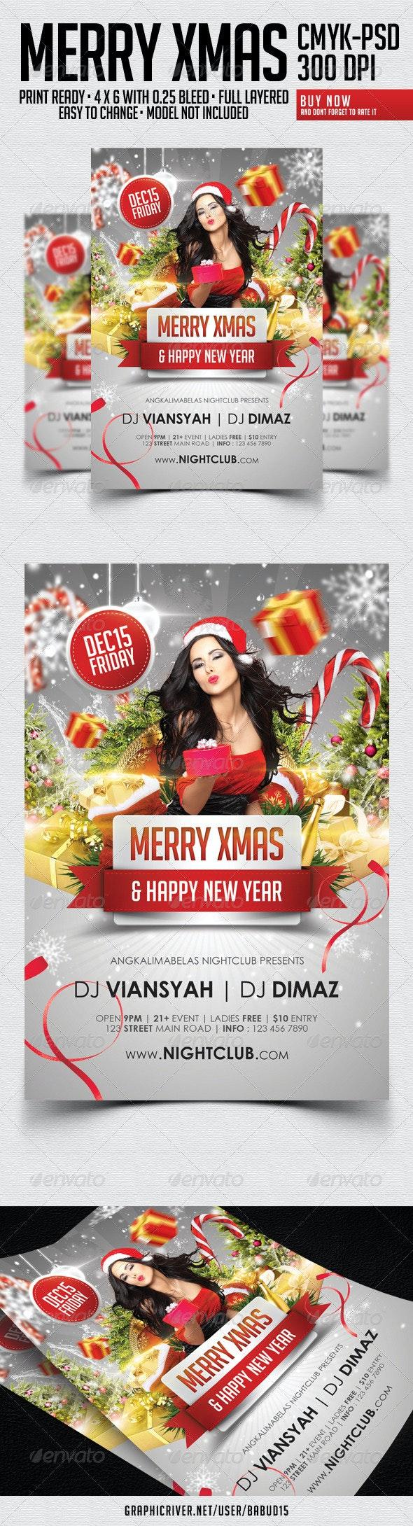 Merry Xmas Party Flyer - Events Flyers