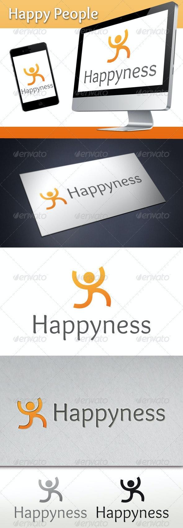 Happy People Logo - Humans Logo Templates