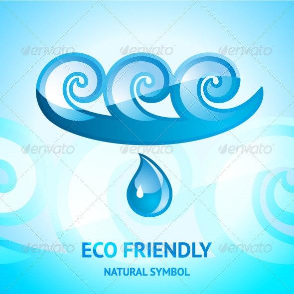 Water Natural Symbol - Decorative Symbols Decorative