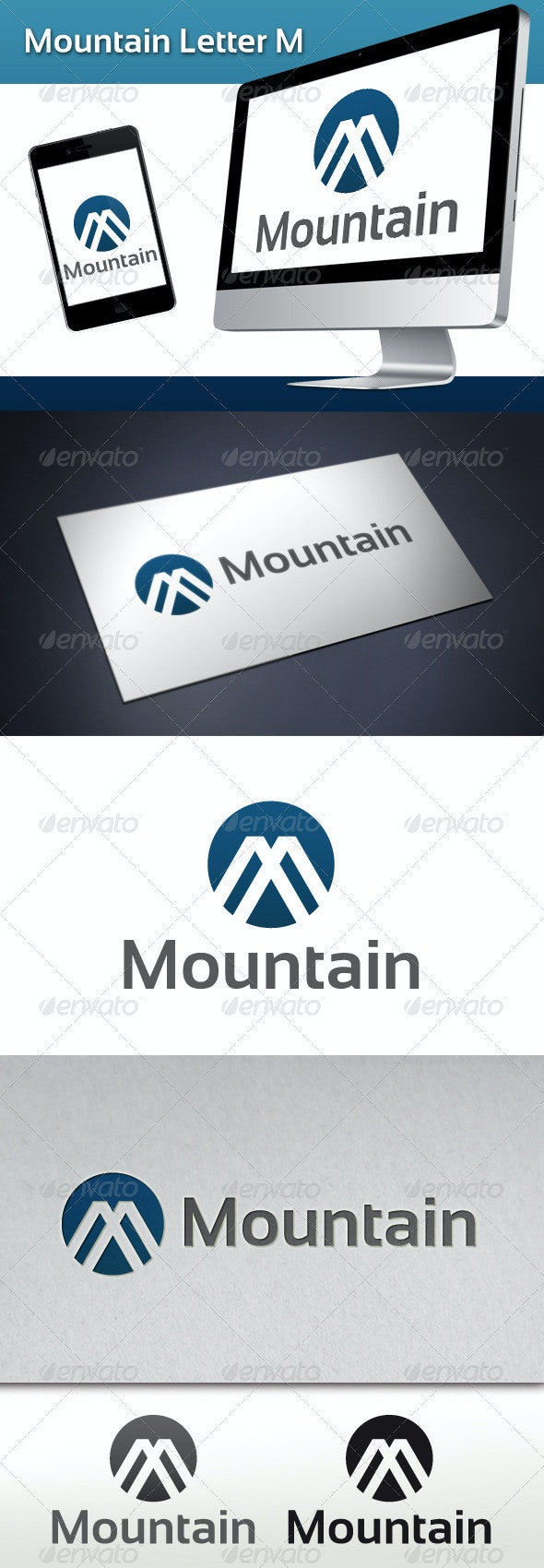 Mountain Letter M Logo - Abstract Logo Templates